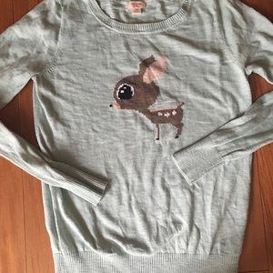 Mint green deer sweater from Target